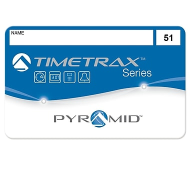 Pyramid™ TimeTrax 41304 Time & Attendance System Swipe Cards, #51 - 100