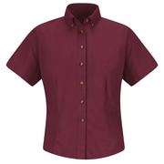 Red Kap Women's Meridian Performance Twill Shirt SS x XS, Burgundy