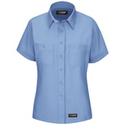 Wrangler Workwear Women's Work Shirt SS x 3XL, Light blue