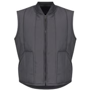 Red Kap  Men's Quilted Vest RG x M, Charcoal