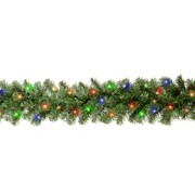 National Tree Co. Kincaid Spruce Pre-Lit Garland; Multi-Colored Lights