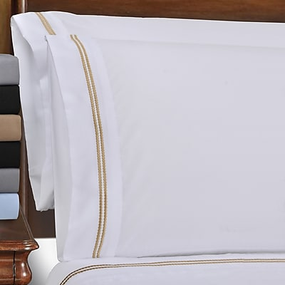 Simple Luxury Wrinkle Resistant Heritage 3000 Series Pillowcase (Set of 2); King WYF078277782748