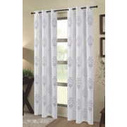 Dainty Home Tulip Outdoor Window Curtain Panels (Set of 2); White