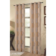 Dainty Home Tulip Outdoor Window Curtain Panels (Set of 2); Champagne