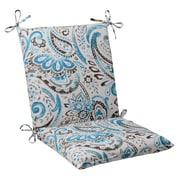 Pillow Perfect Paisley Outdoor Chair Cushion; Gray / Turquoise