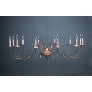 Northeast Lantern Chandelier 12 Light Candelabra Sockets S-Arms Hanging Chandelier; Antique Brass