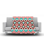 KESS InHouse Eclectic by Pom Graphic Design Fleece Throw Blanket; 80'' H x 60'' W x 1'' D