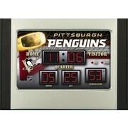 Team Sports America NHL Scoreboard Desk Clocks; Pittsburgh Penguins