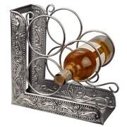 Old Dutch Victoria Embossed 3 Bottle Tabletop Wine Rack