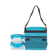 Lock & Lock 5-Piece Lunch Set (Set of 3); Aqua