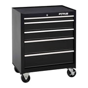 Waterloo Industries Shop Series 26'' Wide 5 Drawer Bottom Cabinet; Black