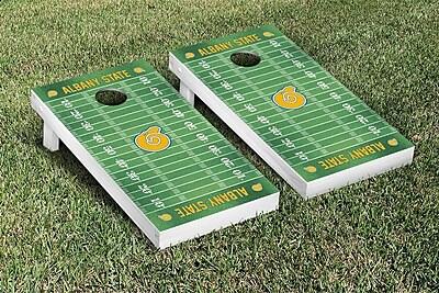 Victory Tailgate NCAA Football Field Version Cornhole Game Set; Albany State University Golden Rams WYF078277114796