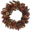 Urban Florals Pinecone Lodge Wreath; 22'' H x 22'' W x 4.5'' D