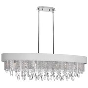 Radionic Hi Tech Intermezzo 7 Light Kitchen Island Pendant; White