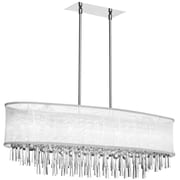Radionic Hi Tech Josephine 8 Light Kitchen Island Pendant; White