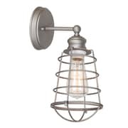 Design House Ajax 1 Light Bathroom Wall Sconce; Galvanized