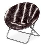 Idea Nuova Urban Shop Ombre Wave Textured Fur Saucer Papasan Chair; Dark Brown