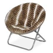 Idea Nuova Urban Shop Ombre Wave Textured Fur Saucer Papasan Chair; Light Brown