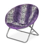 Idea Nuova Rock Your Room Leopard Ombre Faux Fur Saucer Papasam Chair; Purple