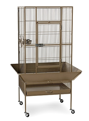 Prevue Hendryx Park Plaza Large Bird Cage w/ Casters; Coco Hammertone WYF078277783170