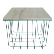 Fox Hill Trading Emery Grid End Table; Teal