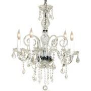 Pangea Home Krystal 5-Light Crystal Chandelier; Clear