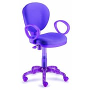 New Spec I-Chair Mid-Back Task Chair with Arms; Purple