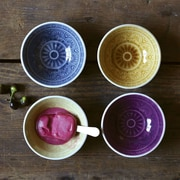 Creative Co-Op Morocco 4 Piece Embossed Stoneware Bowl Set