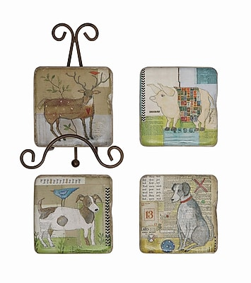 Creative Co-Op Gallery 5 Piece Resin Coaster Set WYF078277697233