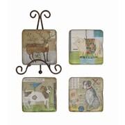 Creative Co-Op Gallery 5 Piece Resin Coaster Set