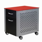 Pit Stop Furniture Racing Style 2-Drawer Cabinet; Red