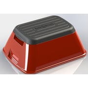 Ennovea Life 1-Step Plastic Anti-Tip Safe-T Step Stool with 375 lb. Load Capacity; Red