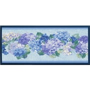 Illumalite Designs 'Blue Hydrangea Bunches' Framed Painting Print