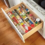 Rev-A-Shelf Wood Spice Drawer Insert; 1.5'' H x 22'' W x 19.75'' D