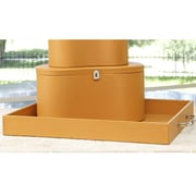 Global Views Midtown Leather Tray; Camel