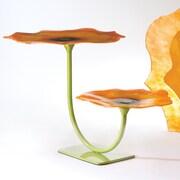 Global Views Poppy 2 Level Plate Stand; Orange