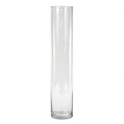 Koyal Wholesale Cylinder Glass Vase (Set of 6); 20'' H x 4'' W x 4'' D WYF078277715431