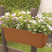 Marchioro Rectangular Window Box; Terracotta