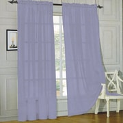 Sweet Home Collection Sheer Voile Curtain Panels (Set of 2); Navy