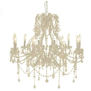 Pangea Home Isabella 10 Light Crystal Chandelier; White