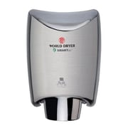World Dryer SmartDri Multi-Port Nozzle 110-120 Volt Hand Dryer in Brushed Stainless Steel