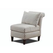 Carolina Accents Ashton Roll Back Slipper Chair; Sand