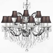 Harrison Lane 18 Light Crystal Chandelier; Black