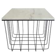 Fox Hill Trading Emery Grid End Table; Black