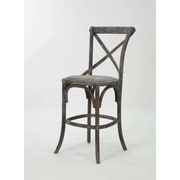 Zentique Inc. Parisienne Cafe 26'' Bar Stool; Limed Charcoal Oak