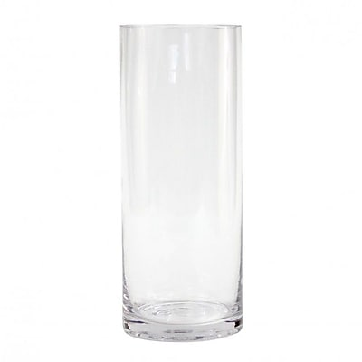 Koyal Wholesale Cylinder Glass Vase (Set of 12); 10'' H x 4'' W x 4'' D WYF078277715218