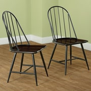 TMS Side Chair (Set of 2); Black and Espresso