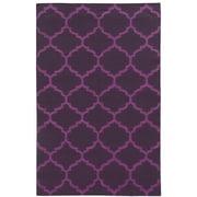 Pantone Universe Matrix Purple Geometric Rug; Runner 2'6'' x 10'