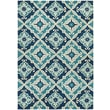 Couristan Beachfront Sea Glass Cobalt/Azure Indoor/Outdoor Area Rug; Round 7'10''
