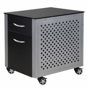 Pit Stop Furniture Racing Style 2 Drawer Cabinet; Black